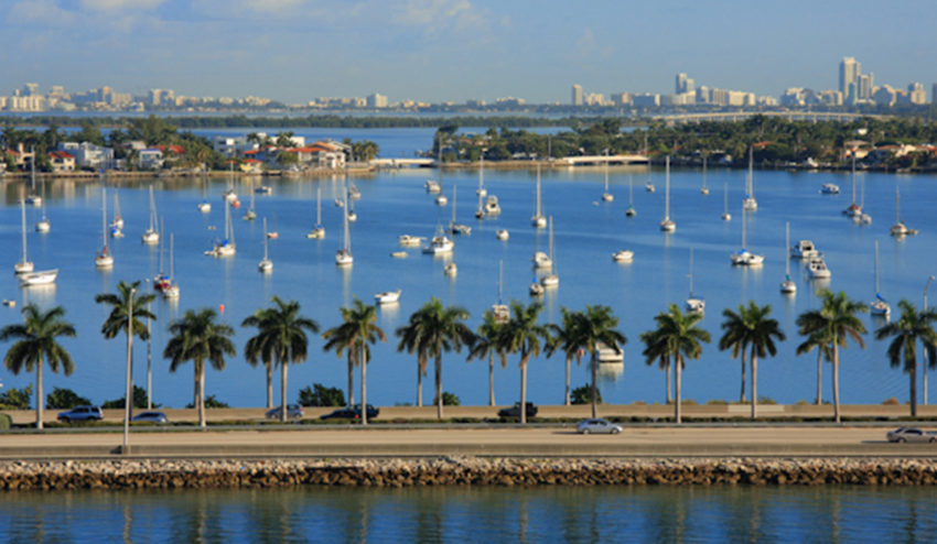 Boats in Biscayne Bay